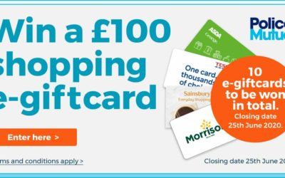 Police Mutual's Prize Draw – Win a £100 Shopping E-giftcard