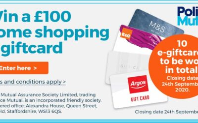 Police Mutual's Summer Prize Draw – Win a £100 Shopping E-giftcard