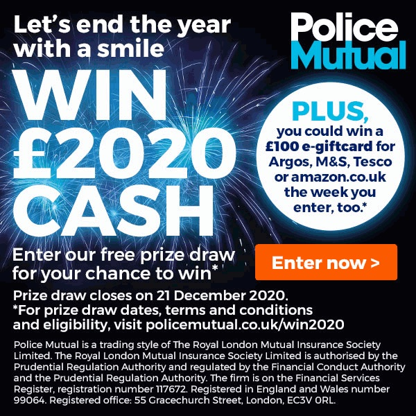Police Mutual's £2020 Prize Draw